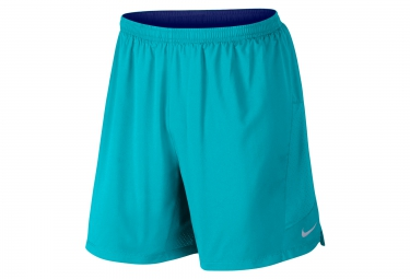 NIKE Short 2-en-1 PURSUIT 2-in-1 18cm Bleu Homme