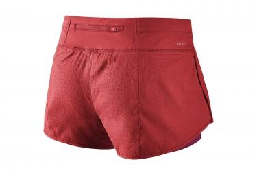 Short 2-en-1 Femme NIKE RIVAL JACQUARD 7,5cm Rouge