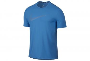 maillot nike dry contour bleu m