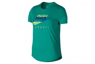 t shirt femme nike running vert m