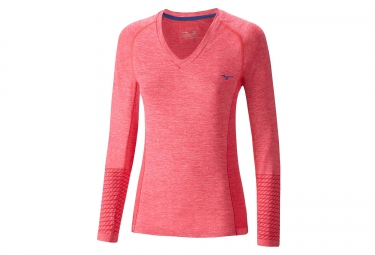 maillot manches longues femme mizuno tubular helix rose s