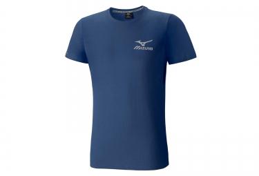 tee shirt mizuno logo bleu s