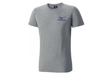 tee shirt mizuno logo gris xl