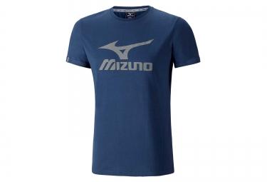 tee shirt mizuno big logo bleu s