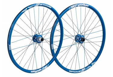 SPANK Wheelset SPIKE SPIKE RACE28 BEAD 26'' Front 20x110mm | Rear 12x135mm Blue