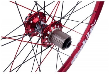Paire de roues SPANK SPIKE RACE 28 BEAD 27.5'' | Av 20x110mm | Ar 12x150mm | Rouge