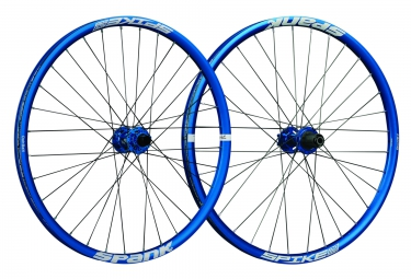 Paire de roues SPANK SPIKE RACE 33 BEAD BITE 27.5´´ | Av 20x110mm | Ar 12x135mm | Bleu