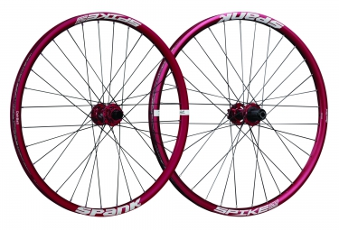 Paire de roues SPANK SPIKE RACE 33 BEAD BITE 27.5´´ | Av 20x110mm | Ar 12x135mm | Rouge