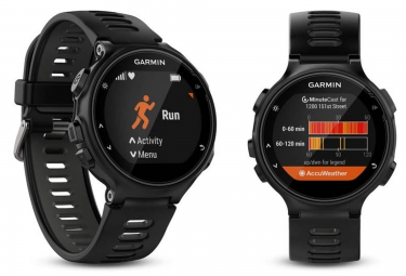 Montre GPS Garmin FORERUNNER 735 XT PACK RUN Noir
