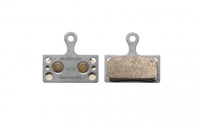 paire de plaquettes shimano g01s g04s g04ti pour xtr xt slx alfine metalliques suppo