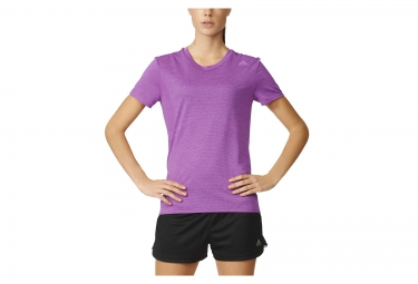 Maillot manches courtes femme adidas supernova violet xs
