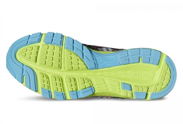 chaussures femme asics dynaflyte gris noir jaune 37