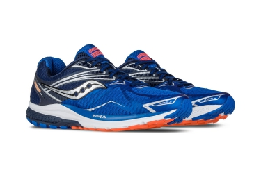 saucony ride 9 bleu gris orange 46 1 2