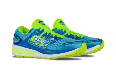 Zapatillas Saucony TRIUMPH ISO 2 para Mujer Azul / Amarillo / Fluo