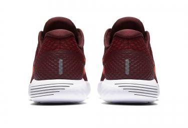Chaussures de Running Nike LUNARGLIDE 8 Rouge