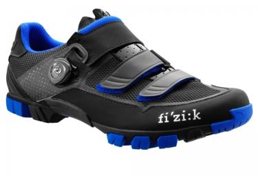 paire de chaussures vtt fizik m6b uomo noir bleu 40
