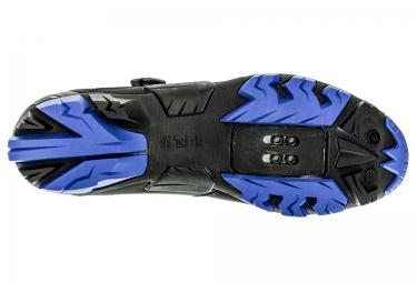 paire de chaussures vtt fizik m6b uomo noir bleu 42