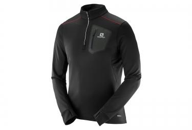 maillot manches longues salomon trail runner noir xl