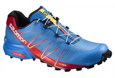 salomon speedcross pro bleu rouge 41 1 3