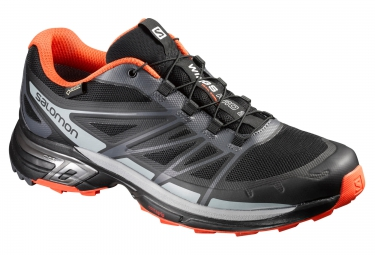 salomon wings pro 2 gtx noir orange 40 2 3