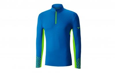 T-Shirt Manches Longues MIZUNO PREMIUM AERO ZIP Bleu