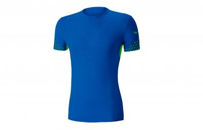 t shirt manches courtes mizuno premium aero bleu l