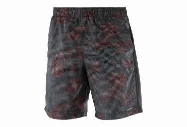 short homme salomon park training noir rouge xl