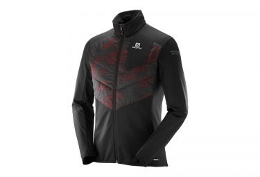 veste homme salomon park warm noir rouge xl