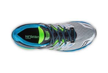 saucony chaussures zealot iso 2 gris vert bleu homme 41