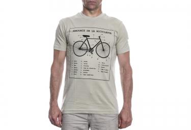 LeBram T-Shirt Bike Anatomy Gris