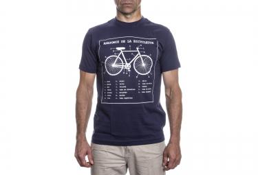 LeBram T-Shirt Bike Anatomy Bleu Marine