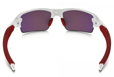 Lunettes Oakley Flak 2.0 white/red red Prizm H2O