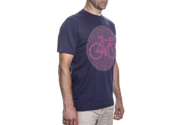 LeBram T-Shirt Point Bike Bleu Marine Rose