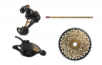 SRAM XX1 EAGLE 12 Speed Mini Groupset - Black Gold (Crankset not included)