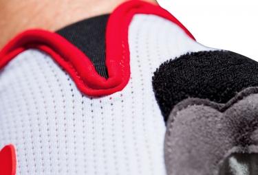 Gants Courts CUBE RACE Blanc Rouge