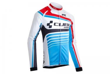veste thermique cube teamline blanc bleu m