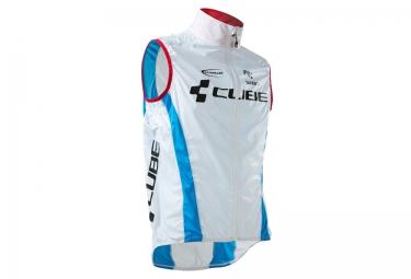 veste coupe vent deperlant cube teamline blanc bleu m