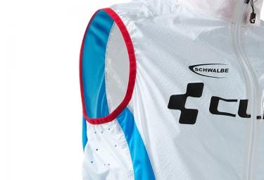 Veste Coupe-Vent Déperlant CUBE TEAMLINE Blanc Bleu