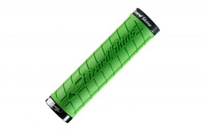 lizard skins paire de grips logo lock on vert