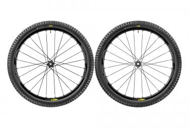 paires de roues vtt mavic xa elite 29 noir axes boost 15x110mm av 148x12mm ar sram shimano quest pro 2 35