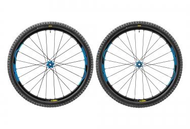 paire de roues vtt mavic xa elite 27 5 bleu axes boost 15x110mm av 148x12mm ar shimano sram quest pro 2 4