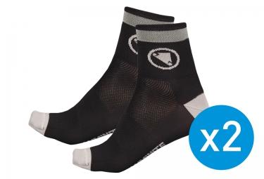 endura pack de 2 paires de chaussettes luminite noir 37 42