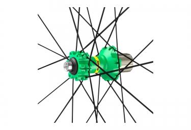 paire de roues vtt mavic xa elite 29 vert axes boost 15x110mm av 148x12mm ar shimano