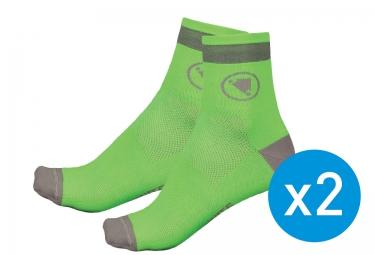 Calcetines Endura LUMINITE  - Vert / Gris