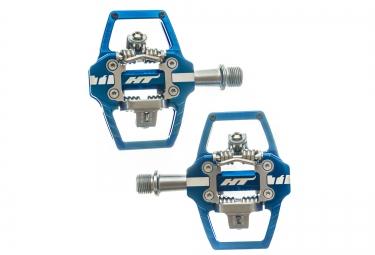 Paire de pedales automatiques ht t1 bleu