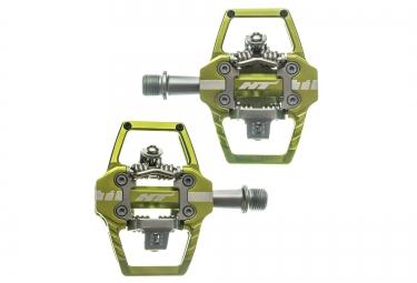 paire de pedales automatiques ht t1 vert