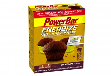 powerbar gateau energize muffin 400g double chocolat