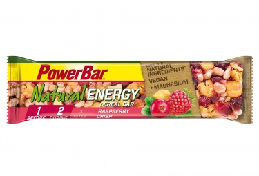 powerbar barre natural energy cereal 40gr framboise