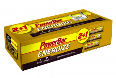 POWERBAR 3 Barres ENERGIZE C2Max 55gr Cookies & Cream