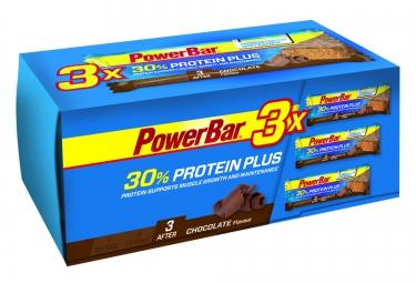 POWERBAR 3 Barres Protéinées 30% PROTEIN PLUS 55gr Chocolat